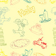 icon of italia seamless pattern