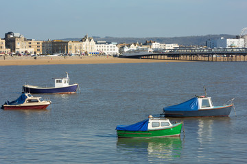 Boats and beach Weston-super-Mare Somerset