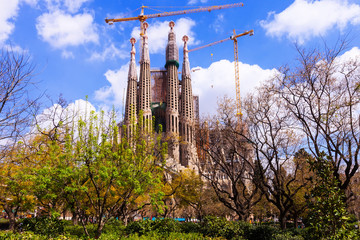Basilica and Expiatory Church of the Holy Family  in Barcelona