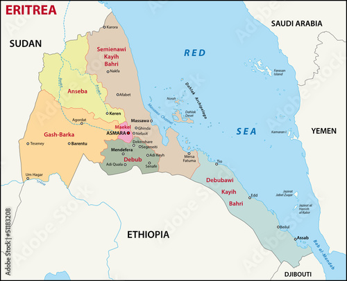 Eritrea Administrativ