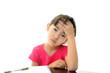 勉強に嫌気を感じる女の子