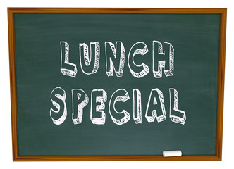 Lunch Special - Words on Restaurant Chalkboard Advertising