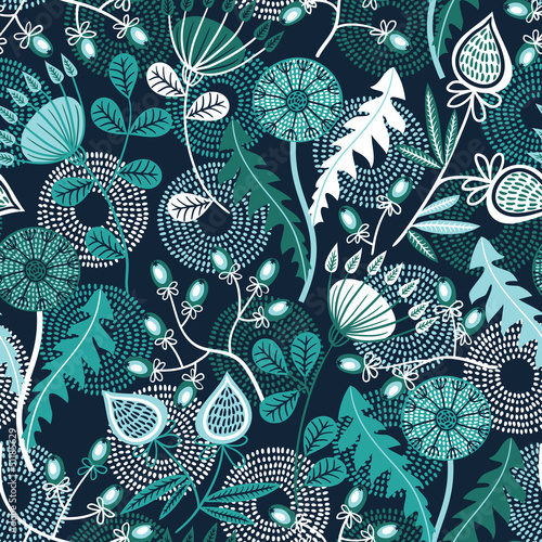 Seamless floral pattern © tets