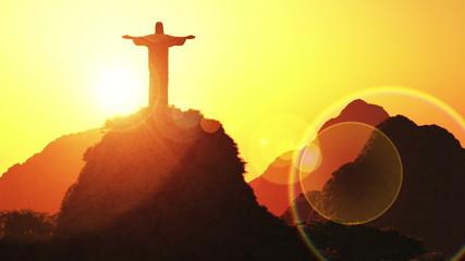Corcovado Mountain Cristo Redentor Christ Redeemer in Rio De Jan