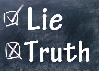 lie and truth choice