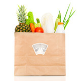 Fresh food in a paper bag