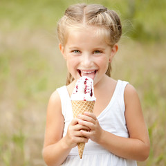 little girl with ice-cream
