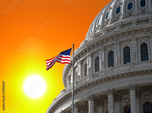 Sunrise Sky over US Capitol