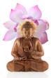 lotus et statue de Bouddha