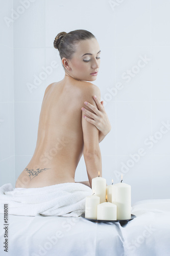 beautiful woman in a medical beauty center