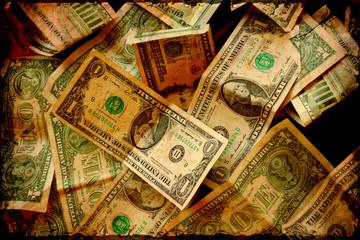 Retroplakat - Dollarscheine III