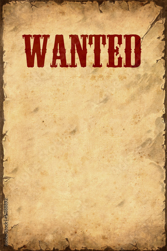 Retroplakat - Wanted