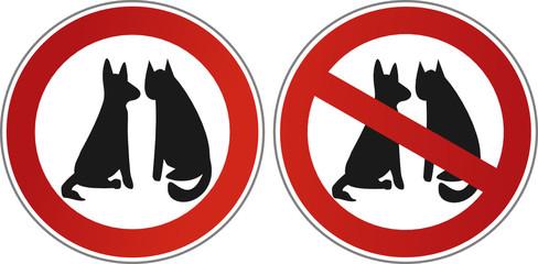 Hund und Katze – erlaubt – verboten