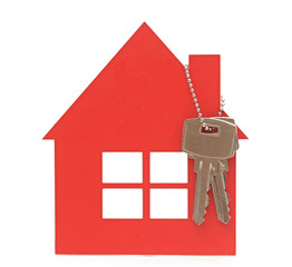 house key and red home estate security