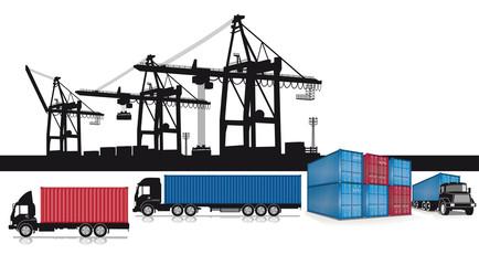 Container Verladung im Hafen