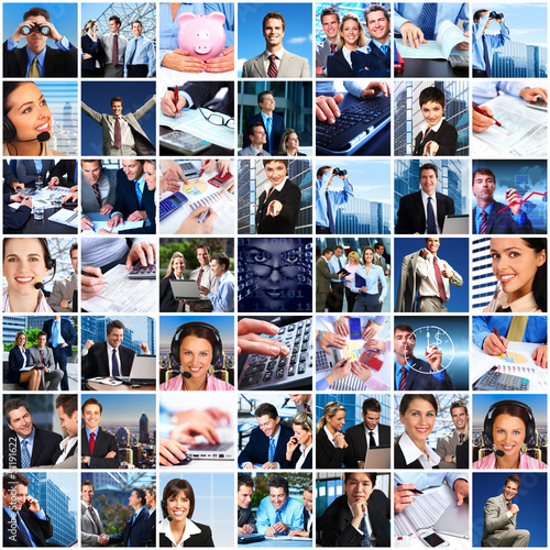 Business people team collage.