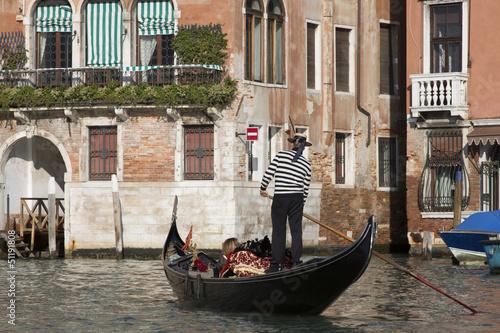 Fotobehang Gondolas Gondola in Venice