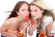 Erdbeeren und Drinks