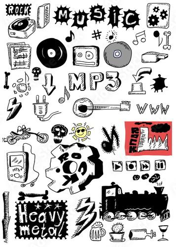 Doodle music heavy metal, rock