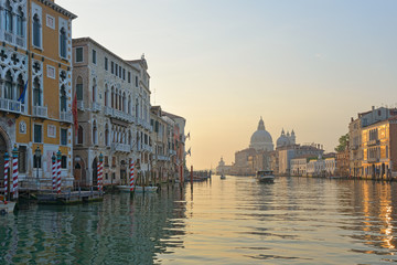 Venice: Early morning along Grand Canal
