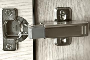 Furniture hinge in the door