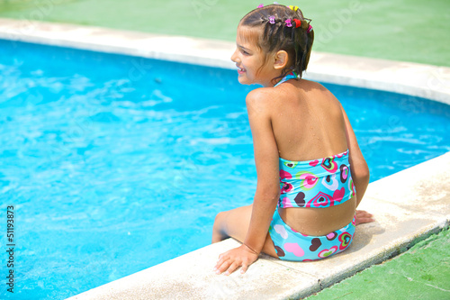 girl in the pool