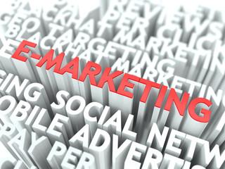 E-Marketing Concept.
