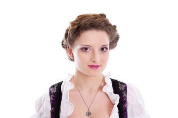 Ein Mädchen aus Bayern - Gesicht - isoliert