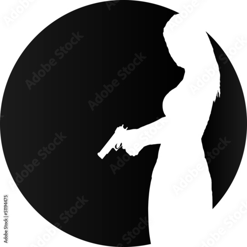 Web Logo Woman and Gun
