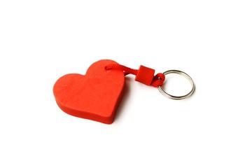 crveno srce, privezak