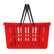 Red Shopping Basket isolated on white