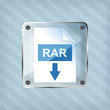 transparency rar download icon on a striped background