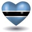 Herz mit Schatten - Botswana