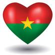 Herz mit Schatten - Burkina Faso