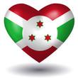 Herz mit Schatten - Burundi
