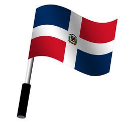 Flagge Dominikansiche Republik wehend