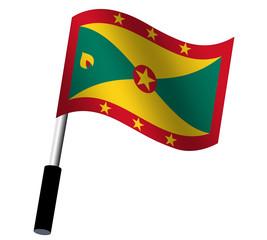 Flagge Grenada wehend