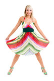 sensual woman wearing fashion dress
