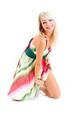 sensual woman wearing summer dress