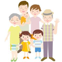 三世代 笑顔の家族