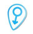 Vector stickers wtih mars symbol