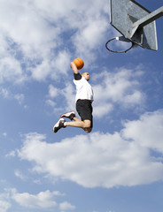 Basketball Player Sky Slam Dunk