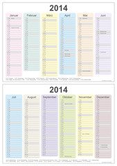 Kalender 2014 - 1.+2.HJ (2x A4) (IV)
