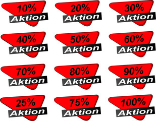 Web Aktions Sticker rot