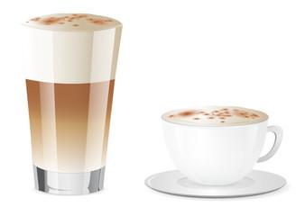 Latte Macchiato und Cappuccino