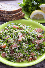 Traditional tabbouleh Arab salad