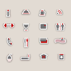 Hotel icons collage
