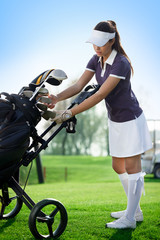 Golfer  young woman