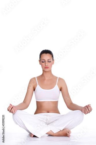 Fototapeten,meditation,frau,lotus,yoga