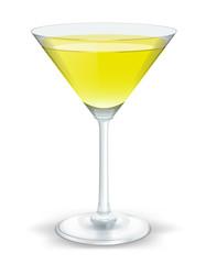 cocktail triangular yellow